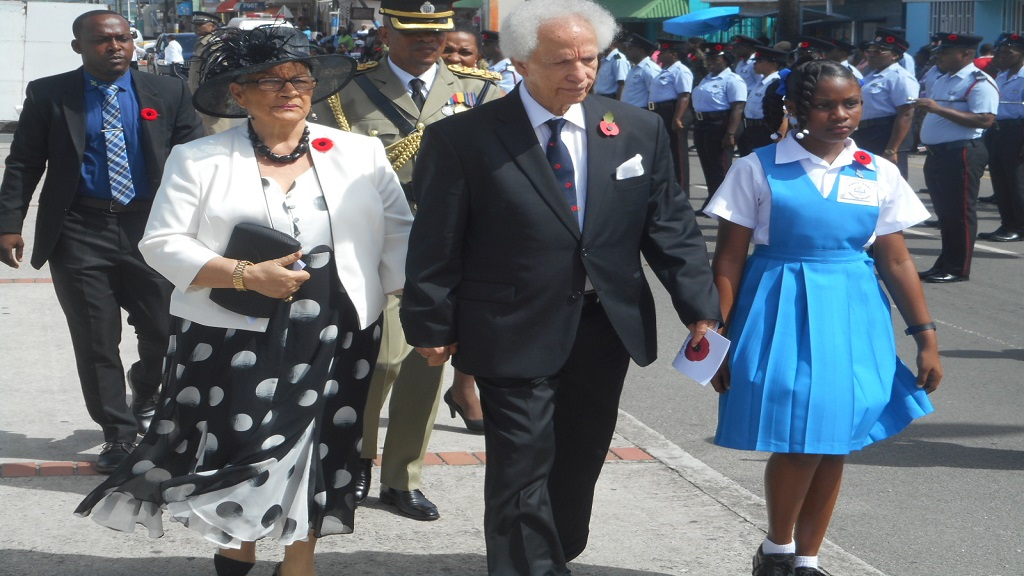 Governor-General Neville Cenac and his wife Lady Julita Cenac