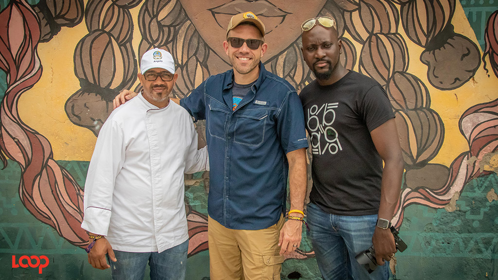 Chef Stone (center) flanked by Chefs Rui Sa (left) and David Olson. (Photos: Shawn Barnes)