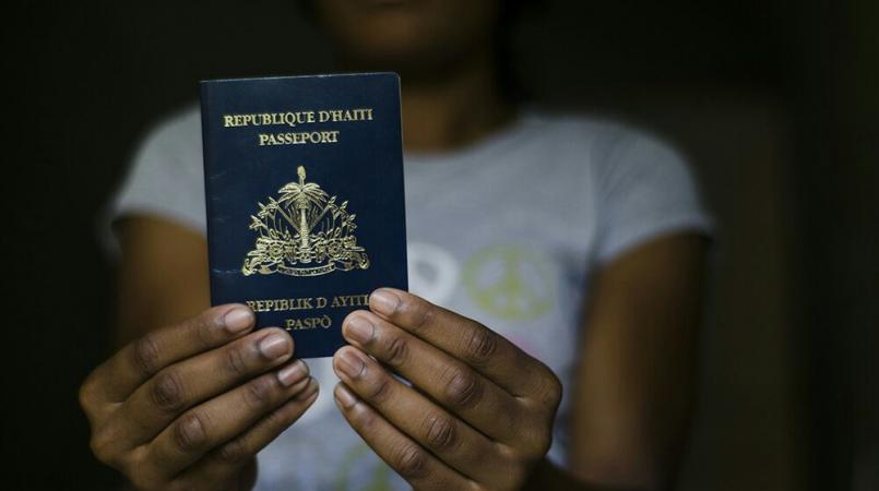 Illustration du passeport haïtien.