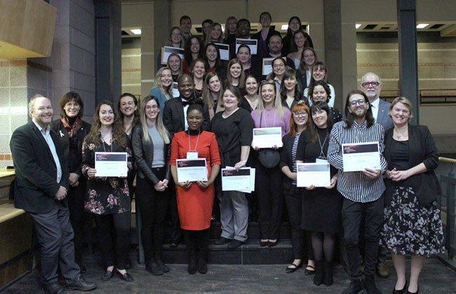 Les étudiants et professeurs distingués à la quatrième édition du Gala Distinction et Reconnaissance organisé par l'Université Laval. Crédit photo: Laval/ Facebook