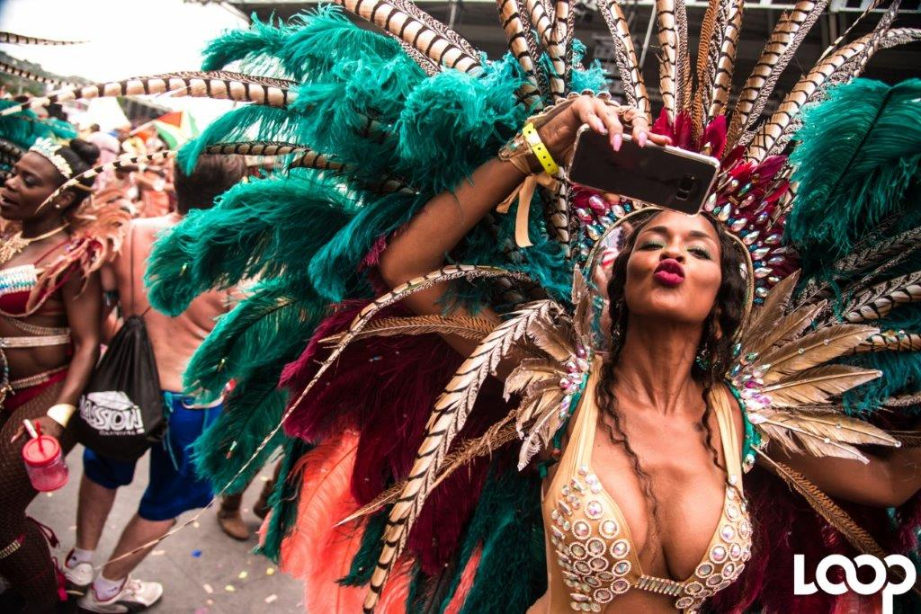 In this file photo a masquerader from the Passion band in Trinidad plays mas in that country's major festival, Carnival. The CTO has themed 2019 The Year of Festivals.
