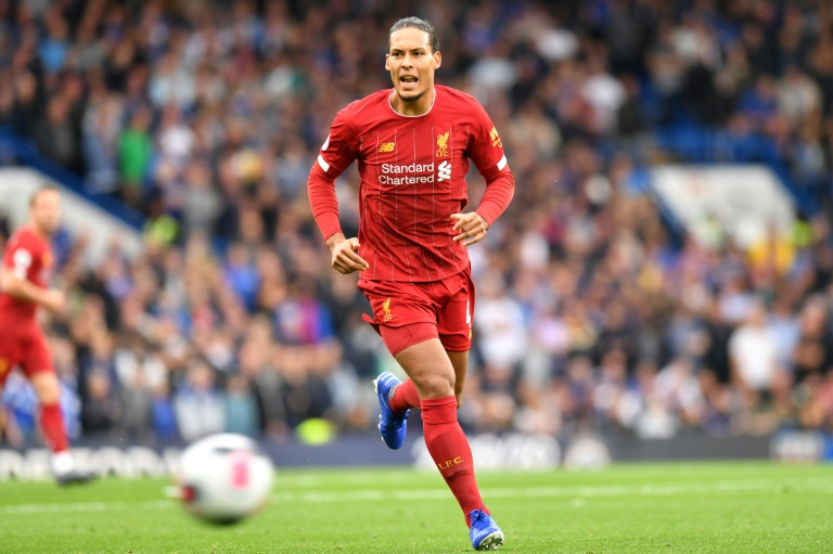 Le défenseur central de Liverpool Virgil van Dijk lors d'un match de Premier League contre Arsenal à Londres, le 22 septembre 2019