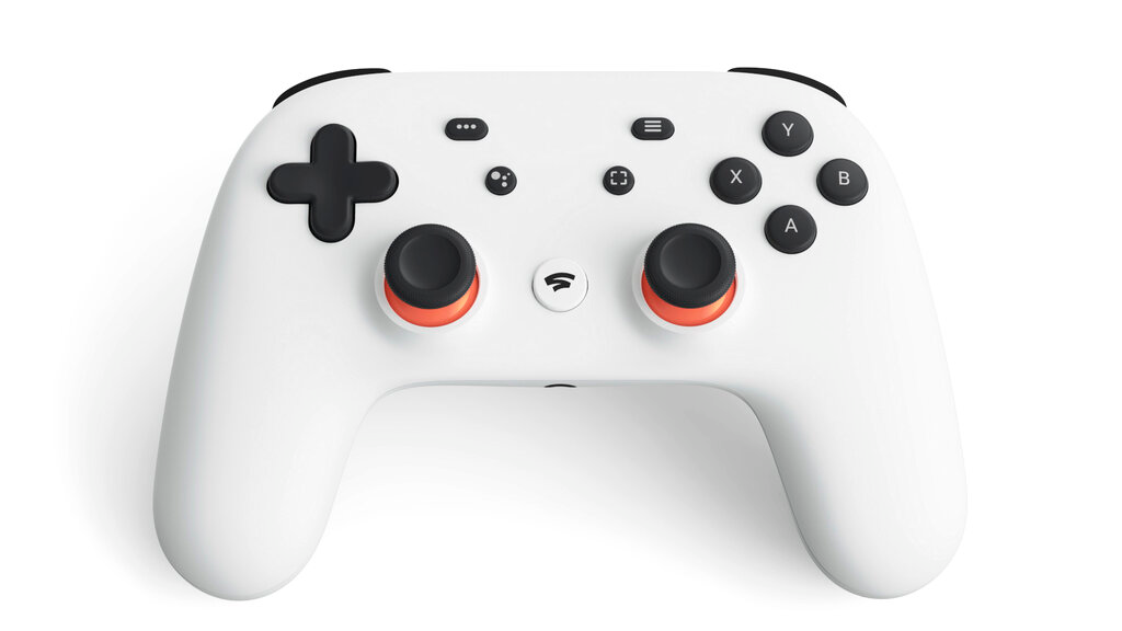 This undated photo provided by Google shows a controller that is part of a video-game streaming platform called Stadia that Google is launching on November 19, 2019. (Google via AP)
