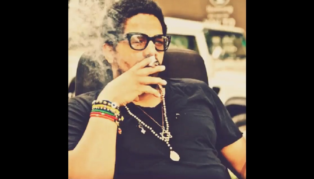Rohan Marley is pictured smoking in this screengrab from a video posted to his Instagram page.