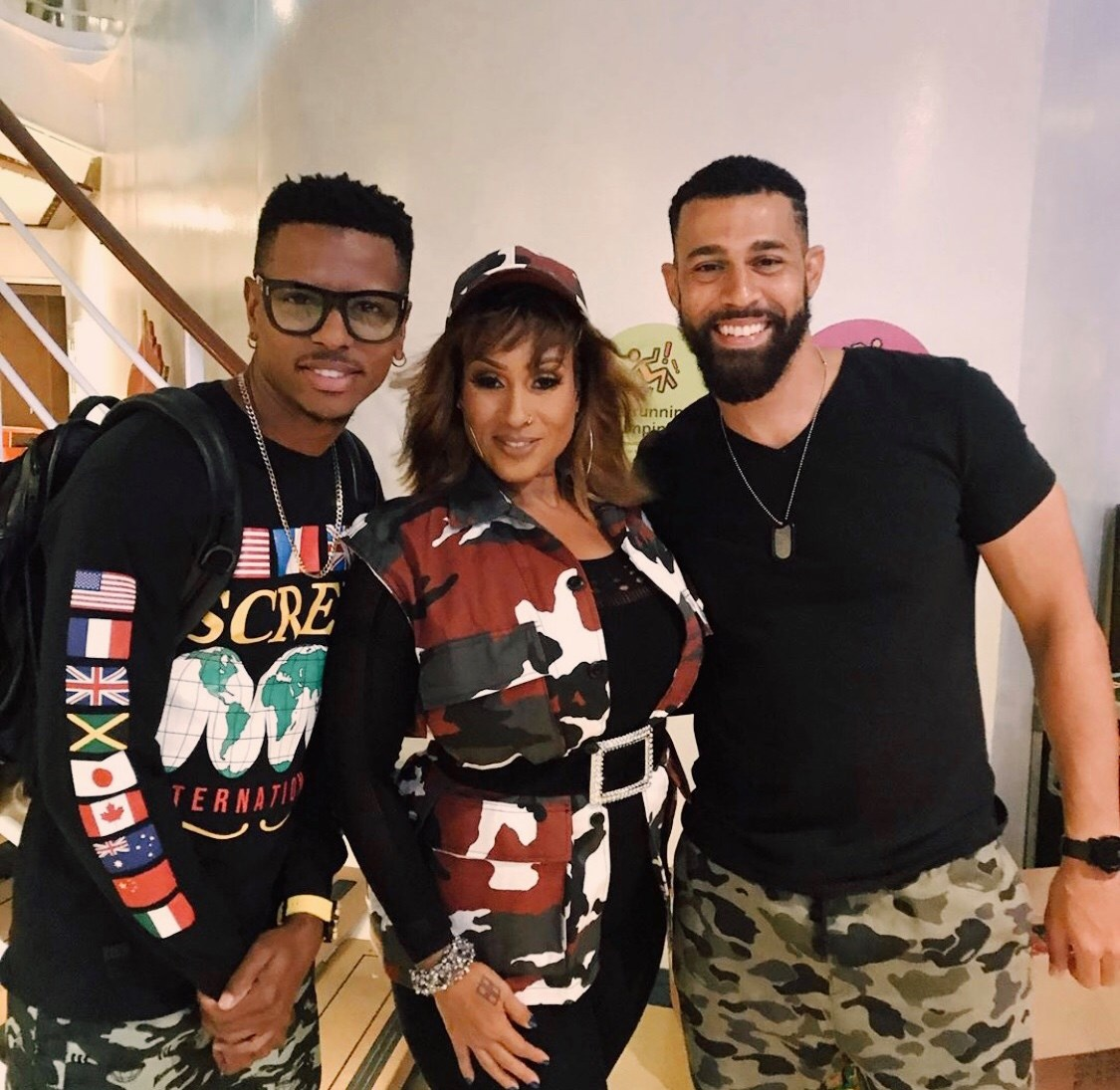 (l-r) DJ Puffy, Alison Hinds, Rome