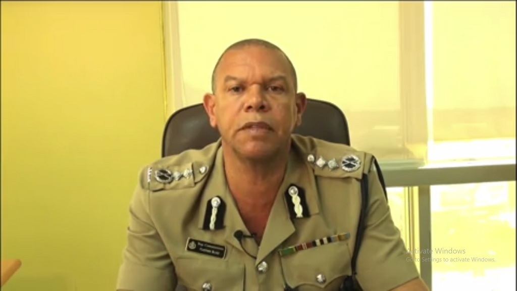 A screen grab from a video with Deputy Commissioner of Police (DCP) for Strategic Operation, Clifford Blake, outlining an ongoing police initiative.