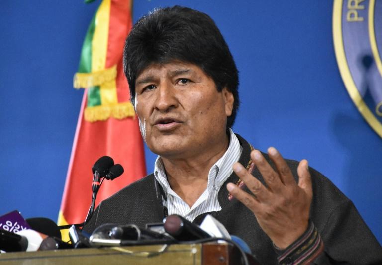 Evo Morales à El Alto, en Bolivie le 9 novembre 2019