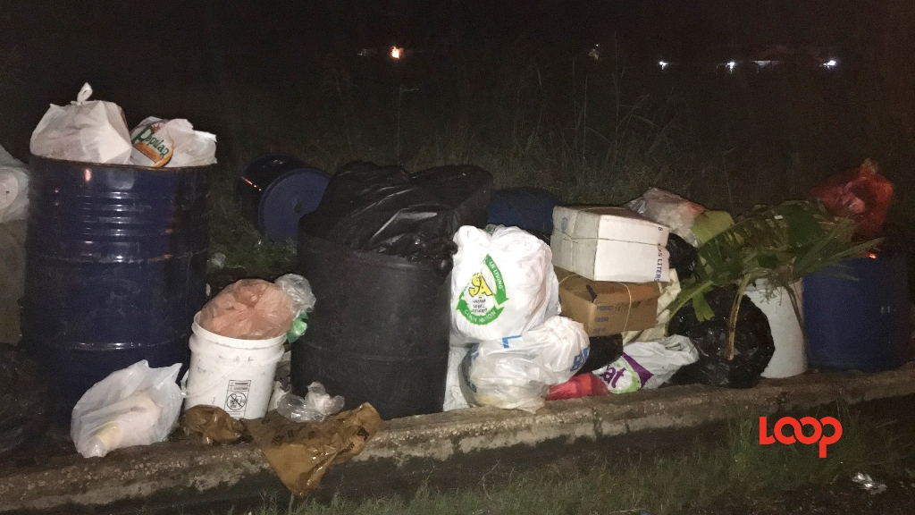 Garbage pilled high in a Christ Church community over the weekend of November 24, 2019.
