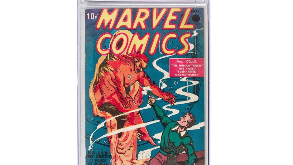Prix record pour la toute première bande dessinée Marvel — Vente aux enchères