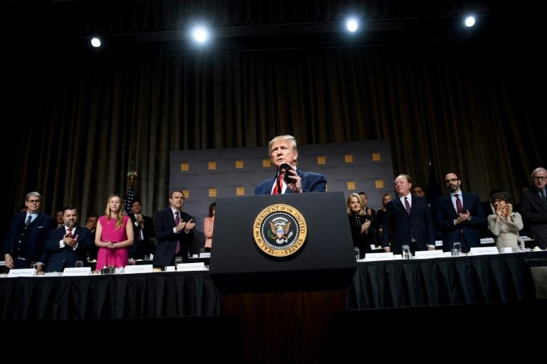 Le président américain Donald Trump à New York le 12 novembre 2019