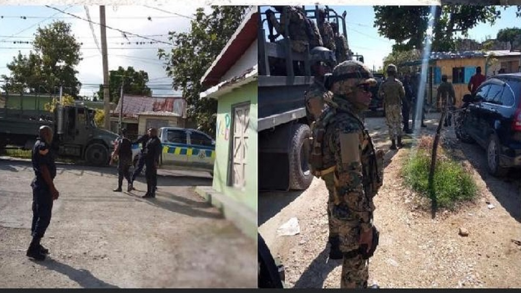 A joint police/military operation in Westmorelnd on Thursday.