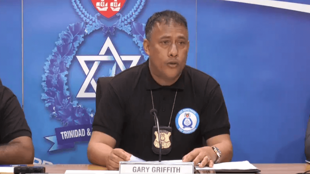 Police Commissioner Gary Griffith speaks at the weekly police media briefing on November 6, 2019.