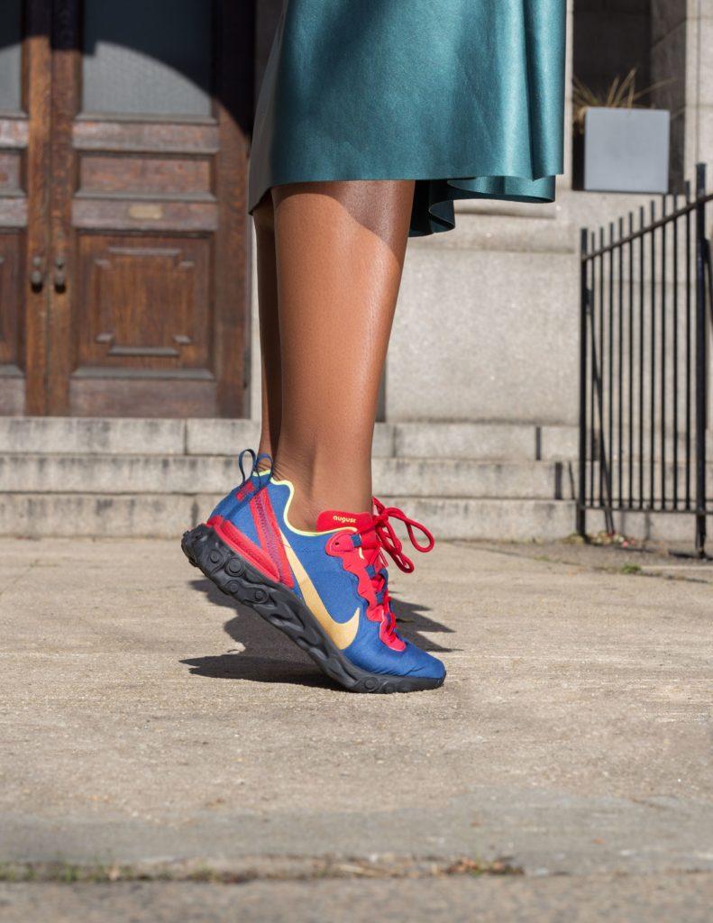 """""""Uprising"""", nouvelle chaussure de la marque Nike inspirée de la révolution haitienne et disponible seulement du 1er au 10 novembre. Crédit photo: Ruth Jean-Marie/Instagram"""
