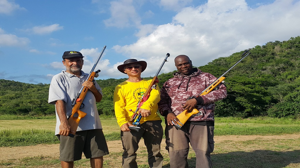 (From left) David Rickman, Denis Lee and Patrick Thompson, emerged as the top shooters at the Jamaica Rifle Association's (JRA) National Full Bore Rifle Championships on Sunday, November 24, 2019 at the Jamaica Defence Force Range in Twickenham Park, St. Catherine.