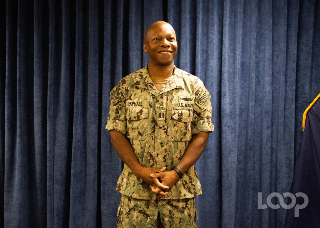 Pierrot Raphael, l'Haïtien originaire du Cap et officier de logistique sur le navire-hôpital américain USNS Comfort. Crédits photo: Luckenson Jean/Loop Haïti