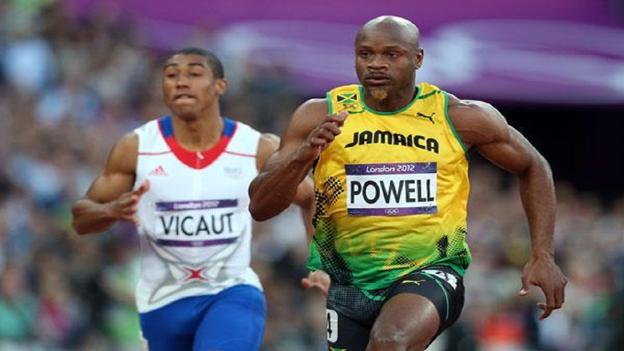 Former 100m world record holder Asafa Powell.