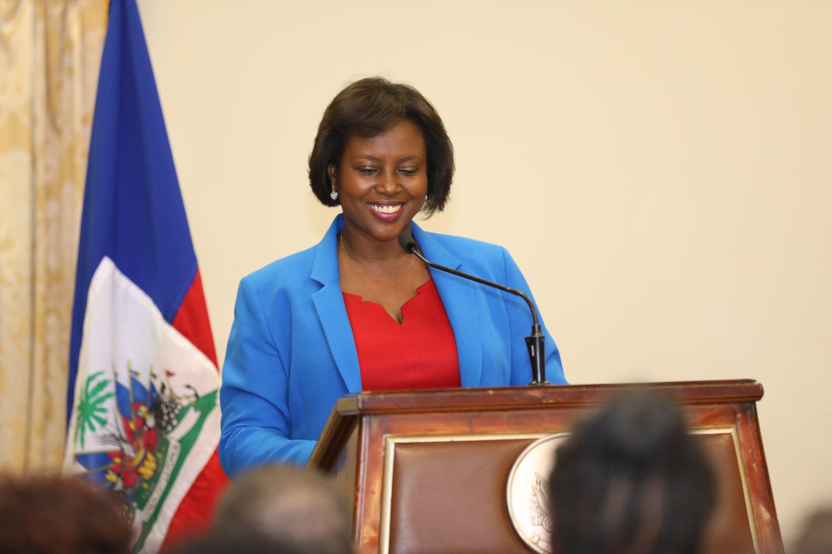 La première dame D'Haïti, Martine Moise Crédit photo : MCC