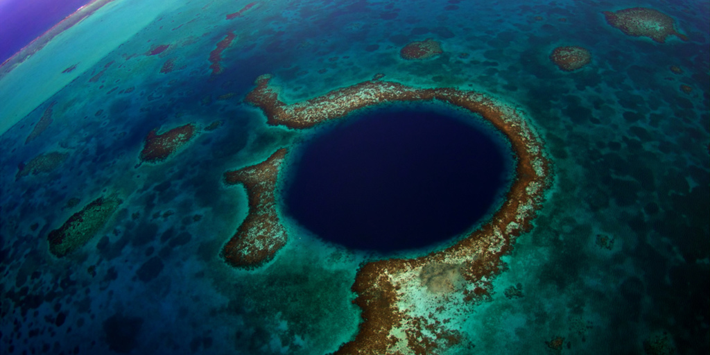 The Blue Hole in Belize has been considered one of the best spots for diving.
