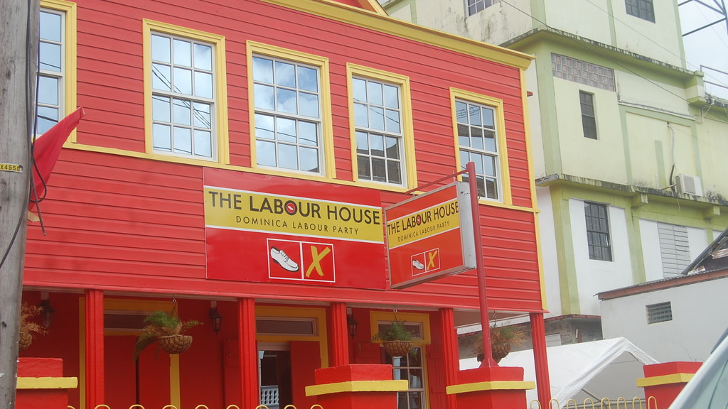Headquarters of the ruling Labour Party in Roseau, Dominica. The island will go to the polls on Dec 6