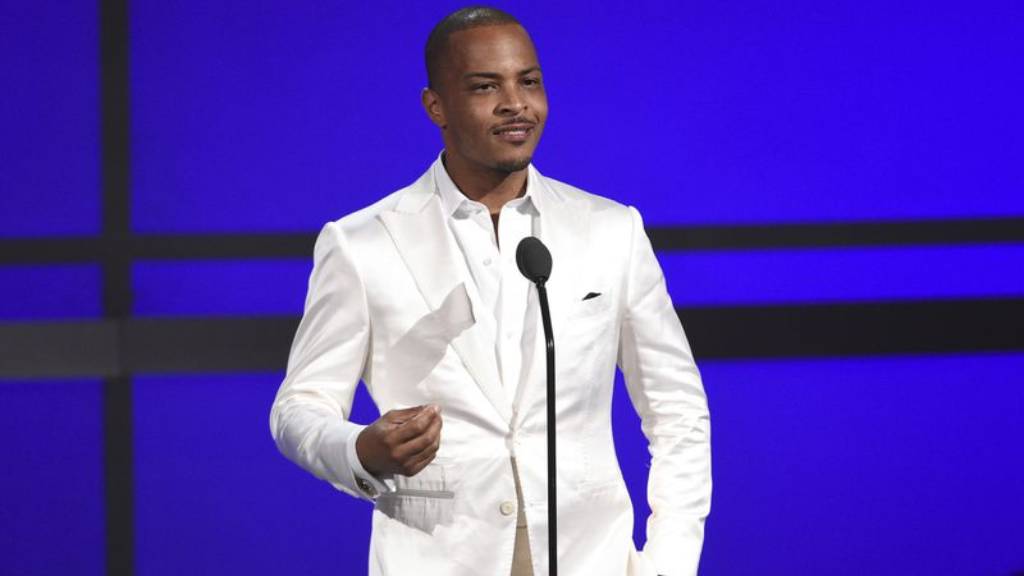 "FILE - This June 23, 2019 file photo shows Tip ""T.I."" Harris at the BET Awards in Los Angeles. (Photo by Chris Pizzello/Invision/AP, File)"