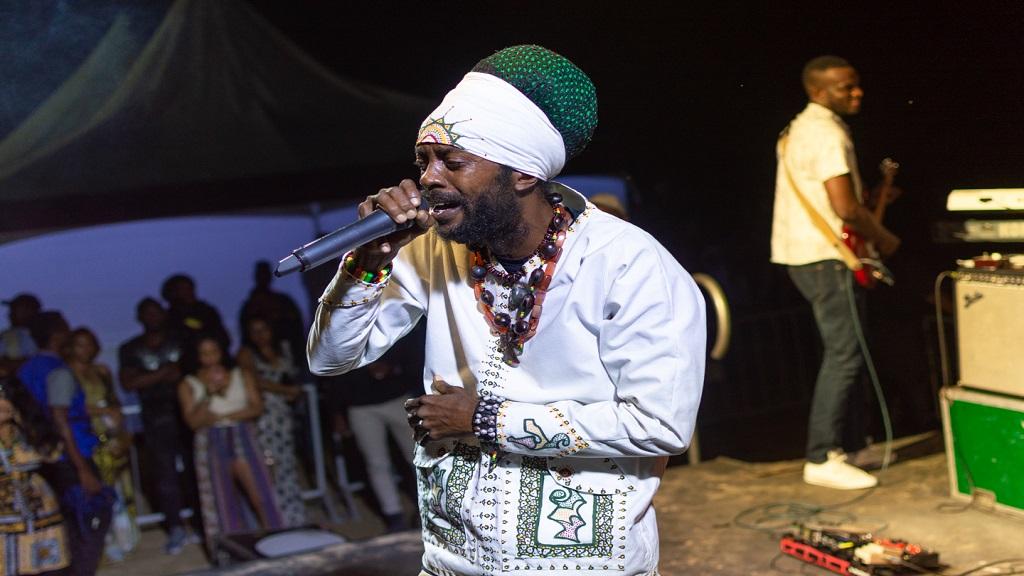 I-Wayne delivers a heartfelt performance at Appleton Estate Signature Nights in St Ann, last Thursday.