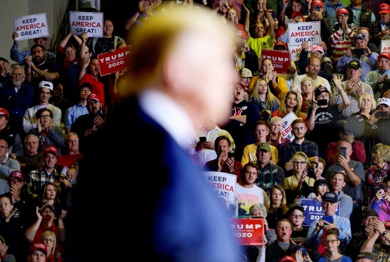 Le président Donald Trump lors d'un meeting de campagne dans le Mississippi, le 1 novembre 2019