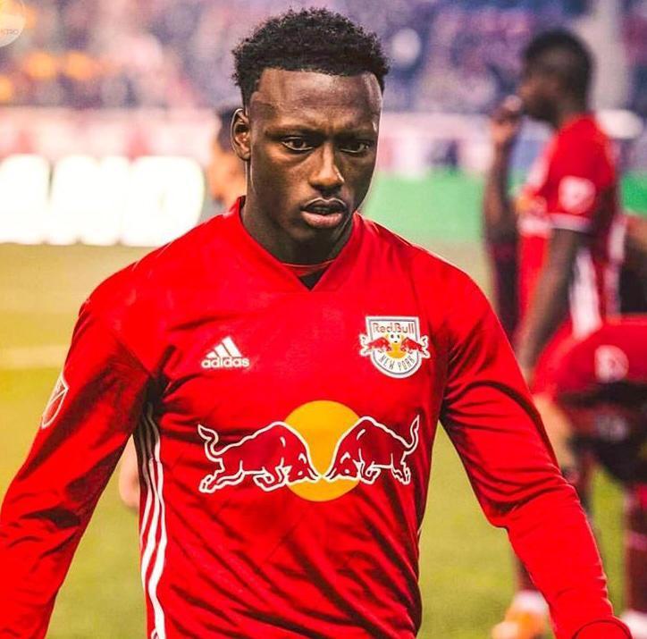 Laissé libre par les Red Bulls de New York, l'international haïtien Derrick Etienne Jr est pour l'instant sans club. CP : Facebook / Derrick Etienne Jr