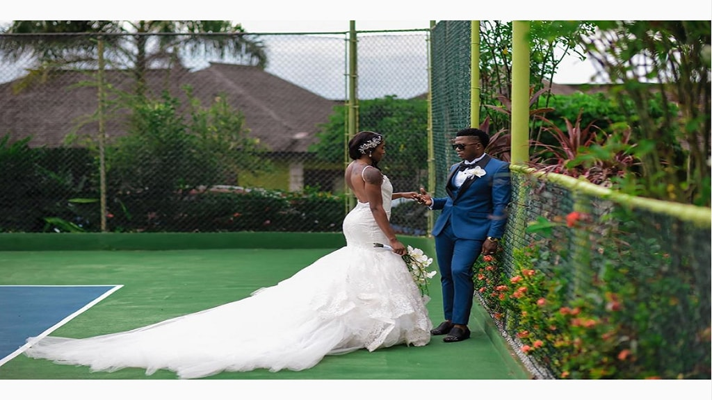 Newly-weds Derron and Elaine Thompson-Herah. (Photo: via Instagram)