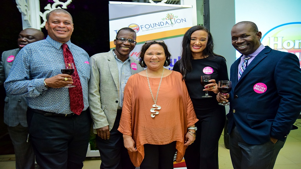 Founder of The Honey Bun Foundation Michelle Chong (front) flanked by from left: Directors of the Honey Bun Foundation Robert Scott, Dr Lawrence Nicholson, General Mangaer Nashauna Lalah and Director Howard James.