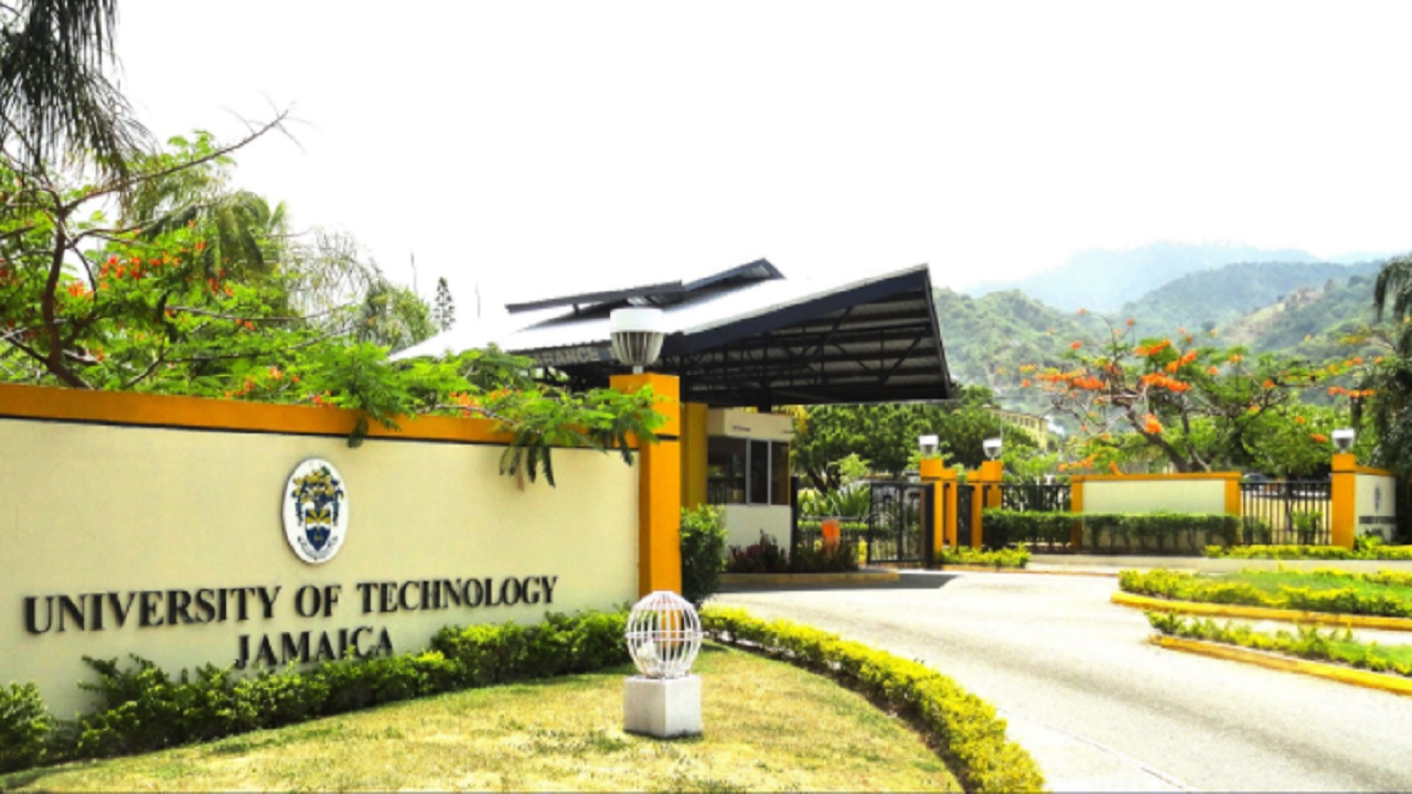 The entrance to the University of Technology campus in Papine, St Andrew.