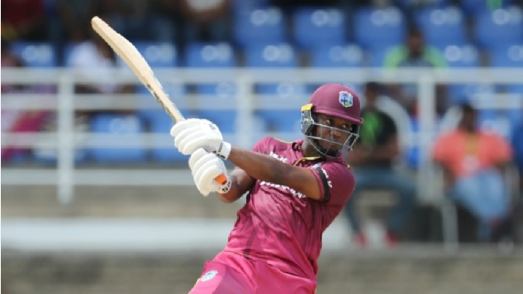 Evin Lewis cut loose against Afghanistan.