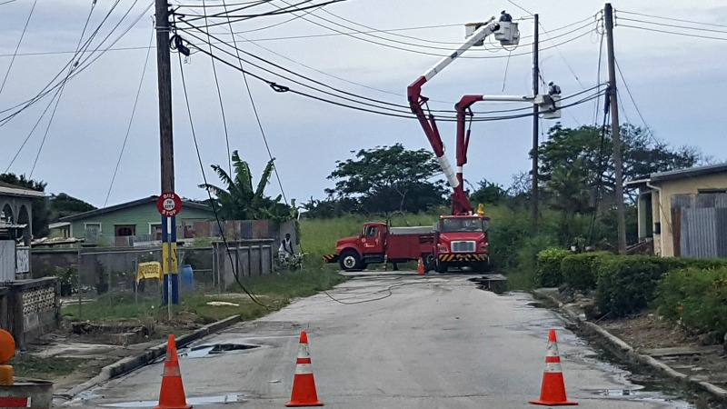 Barbados Light & Power Company  trying to stay on top of the job.