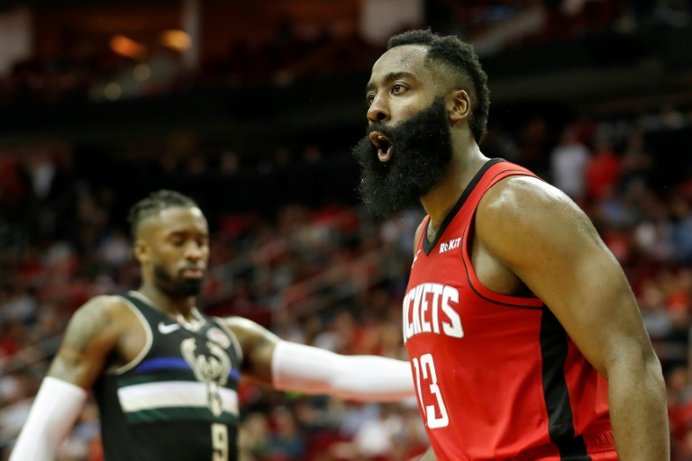 James Harden, des Rockets de Houston, lors du match contre Milwaukee, le 24 octobre 2019, à Houston (Etats-Unis)