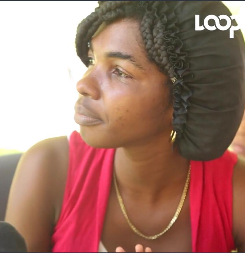 Joseph Senorita, la mère de l'enfant de neuf mois qui vit avec une hernie dès sa naissance. Photo: Capture d'écran