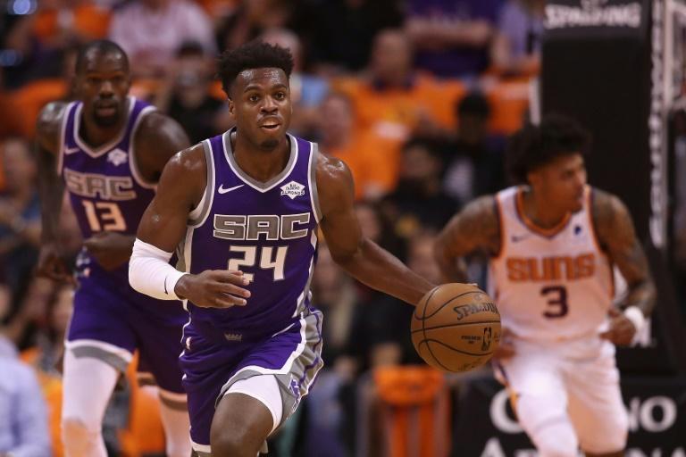 Buddy Hield des Sacramento Kings lors du match de NBA face aux Suns, à Phoenix, le 23 octobre 2019