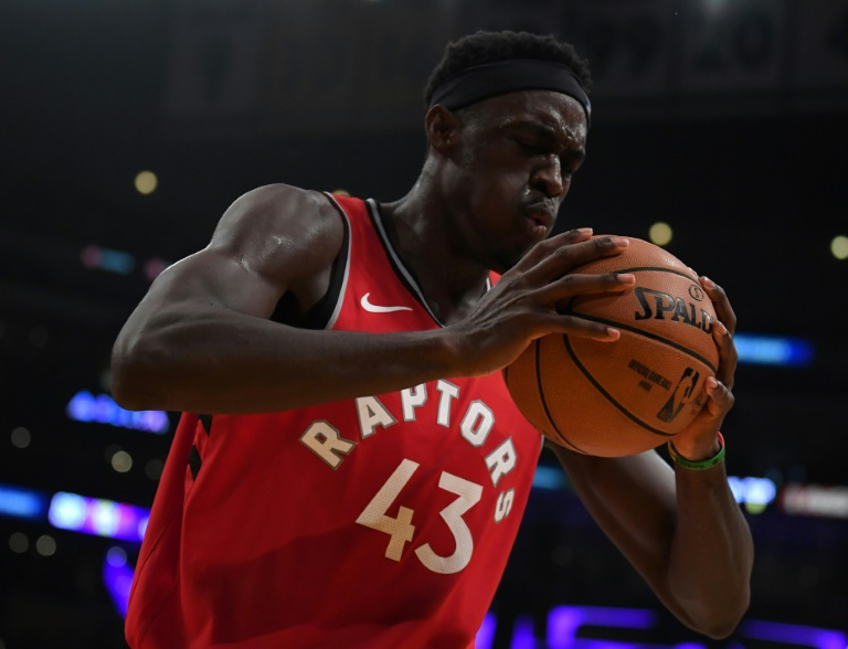 Pascal Siakam des Toronto Raptors face aux Los Angeles Lakers, en NBA, le 10 novembre 2019 à Los Angeles