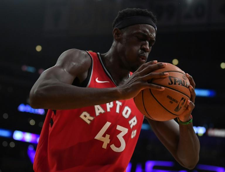 Pascal Siakam des Toronto Raptors face aux Los Angeles Lakers, en NBA, le 10 novembre 2019 à Los Angeles