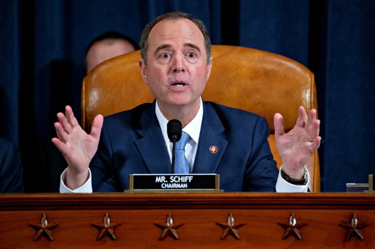 L'élu démocrate Adam Schiff au Congrès à Washington le 21 novembre 2019