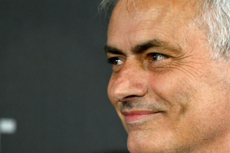 """L'entraîneur portugais Jose Mourinho à la cérémonie des """"Best FIFA Football Awards"""" à Milan, le 23 septembre 2019"""