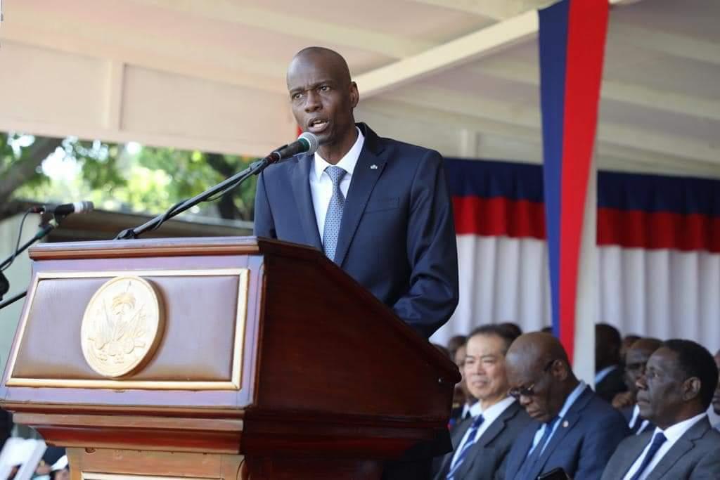 Le Président Jovenel Moïse, lors de son discours au Palais national, a l'occasion de la commémoration des 216 ans de la bataille de Vertières, ce 18 novembre. Photo: Page Facebook/Président Jovenel Moïse.
