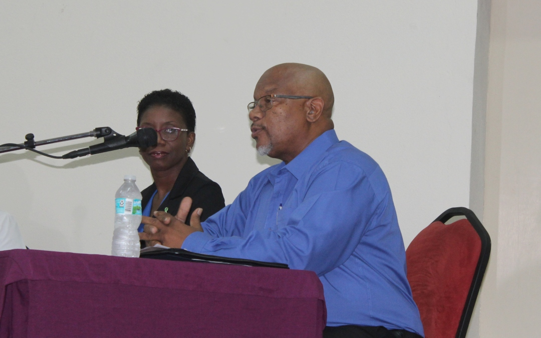 Reverend Connolly (right) during his presentation while Dr. June Price Humphrey looks on.