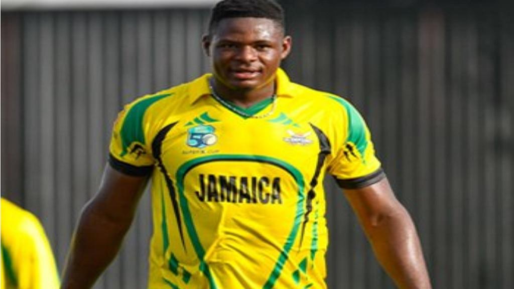 Fast bowler Oshane Thomas of Jamaica Scorpions.