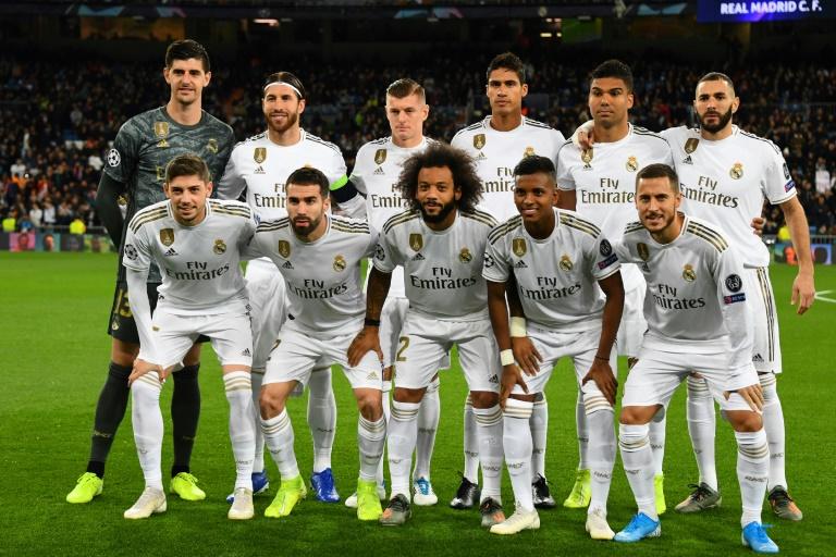 L'équipe du Real Madridalignée face aux Turcs de Galatasaray en Ligue des champions, le 6 novembre 2019 au stade Santiago-Bernabeu