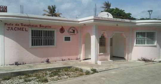 Les locaux du Poste de transfusion sanguine de la ville de Jacmel, en grève depuis fin aout 2019./Photo: Source-Le Nouvelliste.