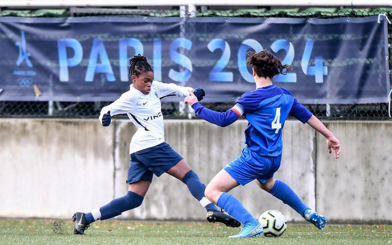 La jeune Liana Joseph, 13 ans, avait fini meilleure buteuse et été élue meilleure joueuse de la dernière finale mondiale de la Danone Cup à Barcelone/Anthony Dibon / LP / Icon Sport