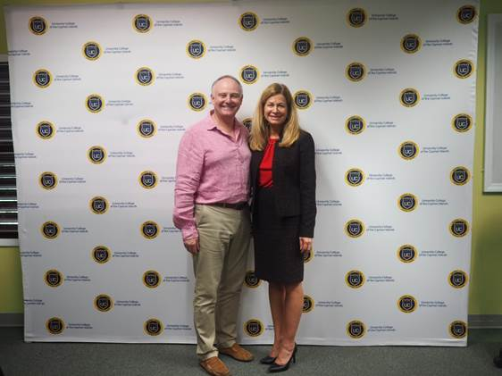 Major-General David Fraser and President & CEO of UCCI, Dr. Stacy McAfee