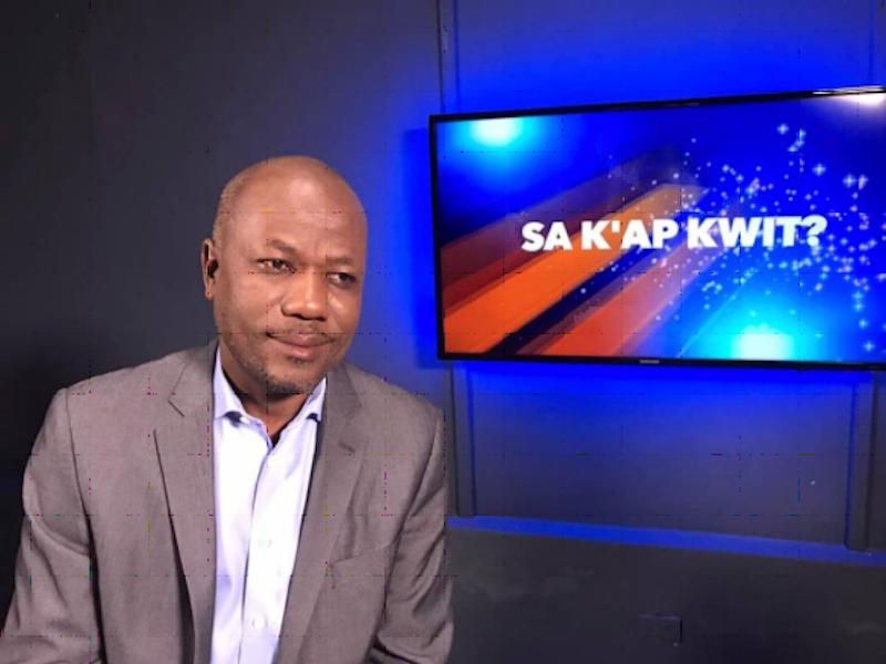 Maître Claudy Gassant, actuel DIrecteur général de l'Unité de Lutte contre la Corruption./Photo: Sa K ap Kwit.