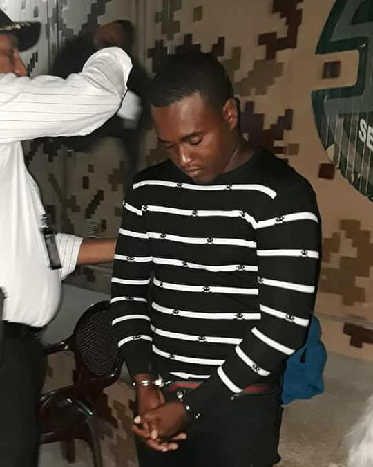 Kerton Lortéus, assassin présumé du policier Jean André Vigne. Photo : Allô la police Haiti / Facebook