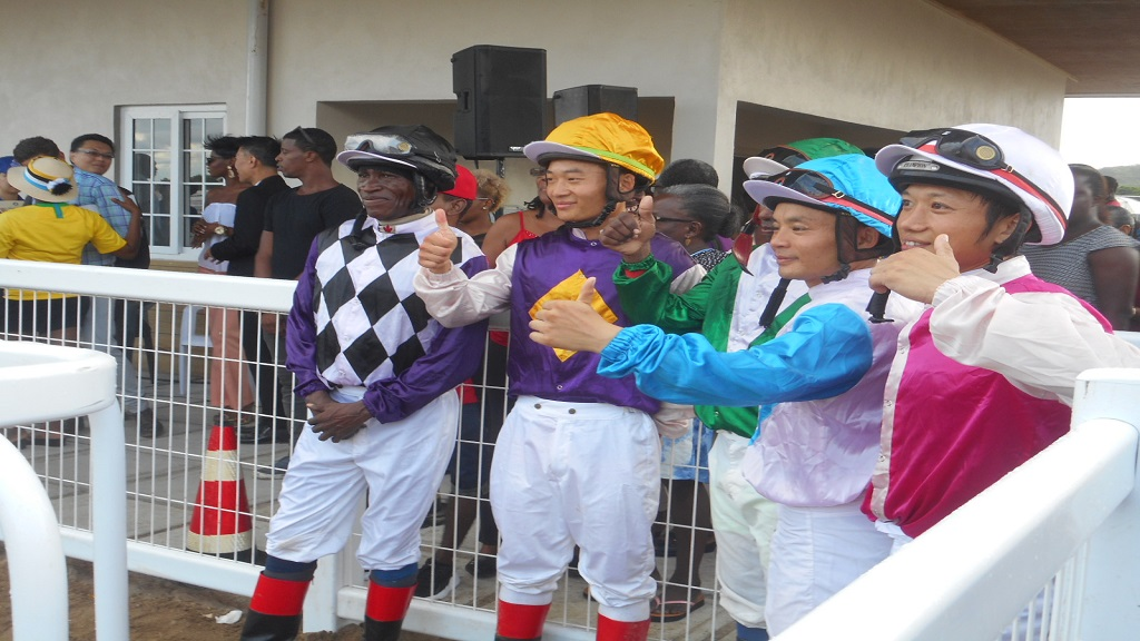 Jockeys for the trial races