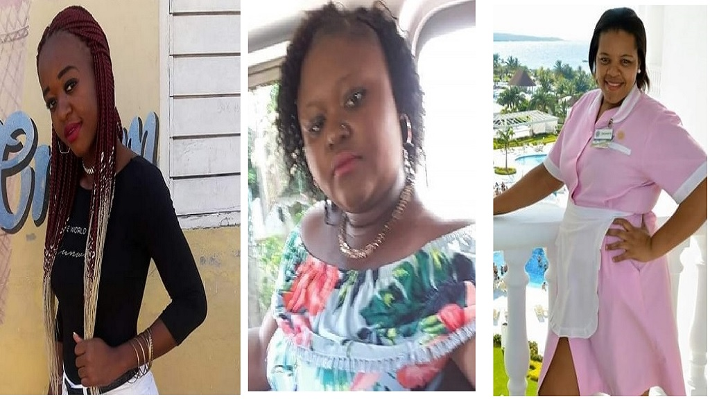 The female victims of Monday's horrific crash on the Queen's Highway in the Discovery Bay area of St Ann. Left to right are Neka Harris, Lekeshia Harris and Wendy McKain.